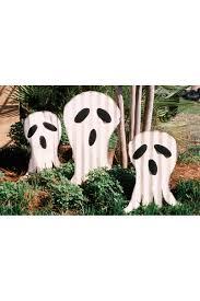 Metal Halloween Yard Stakes by Set Of Three Scrap Metal Ghosts Yard Art Stakes
