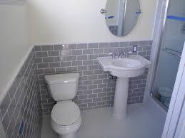 grey subway tile bathroom new basement and tile ideasmetatitle