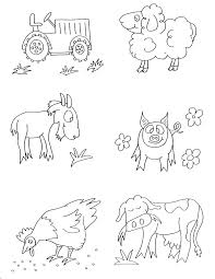 Farm Animals Coloring Pages Free Printable