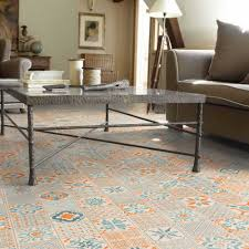 tarkett starfloor click 30 retro orange blue designbelag