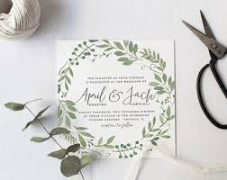 Garden Foliage Wedding Invitation Suite
