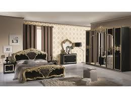 schlichter schlafzimmer set eraclea 6 teilig schwarz gold