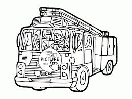 Fire Truck Coloring Pages Inspirationa Cartoon Fire Truck Coloring ...