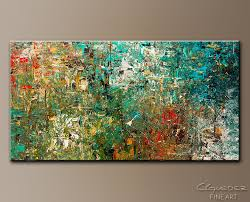 large abstract painting discovery modern colorful