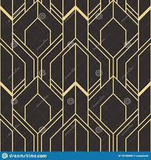 100 Art Deco Shape Golden Lined Abstract Seamless Luxury Background