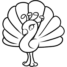 Peacock Coloring Pages Free Printable For Kids Picture