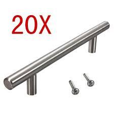 poign de porte de meuble de cuisine 20pcs t bar bâton cuisine armoire porte poignées entraxe 160 mm