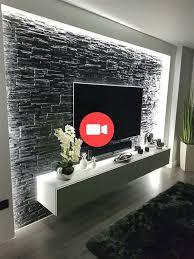 modernste und anmutigste tv wandgestaltung wohnzimmer