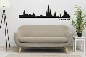 wiesbaden skyline stadt panorama wohnzimmer wandtattoo wandaufkleber ebay