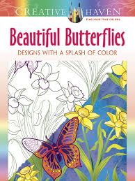 Amazon Creative Haven Beautiful Butterflies Designs With A Splash Of Color Adult Coloring 0800759807772 Jessica Mazurkiewicz Books