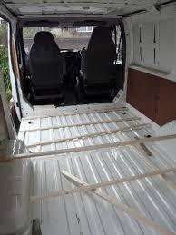 Van Floor Before Insulation And Boarding