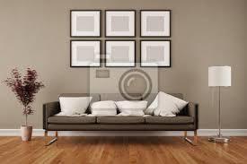wand mit bilderrahmen im wohnzimmer bilder myloview