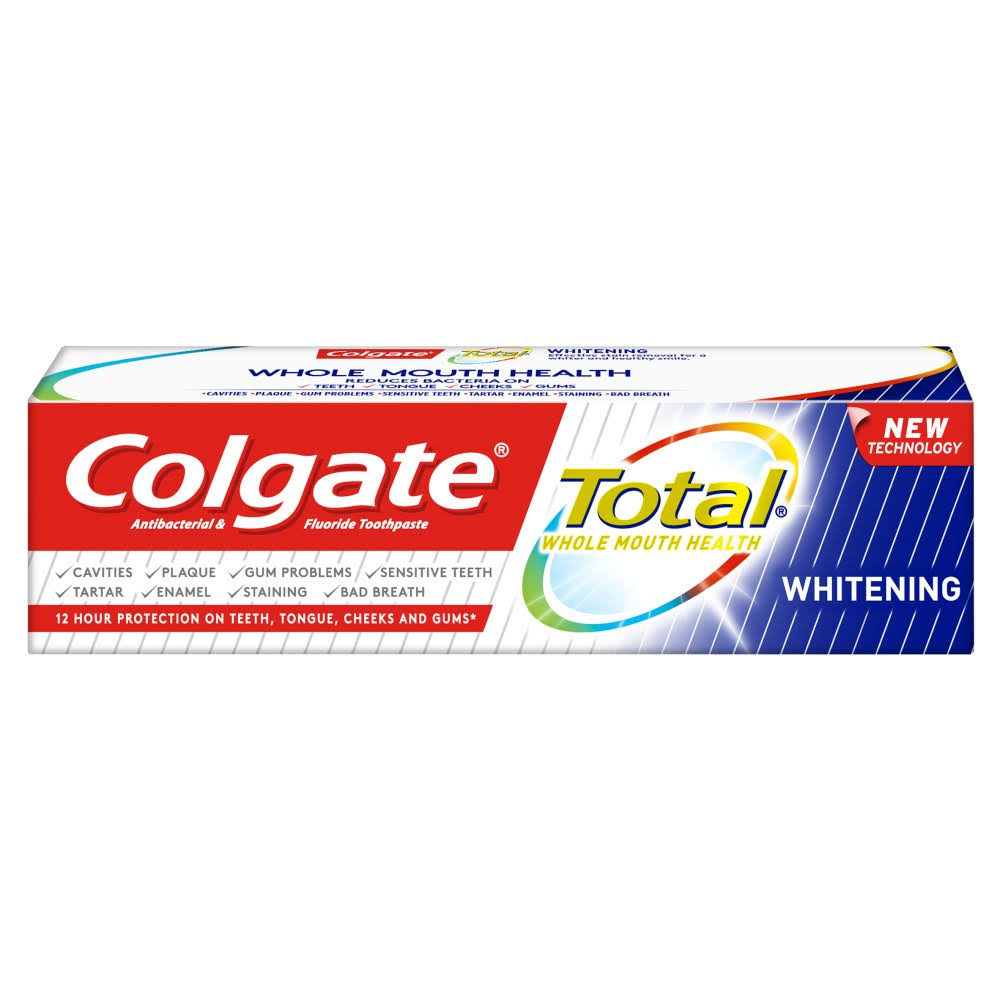 Colgate Total Toothpaste - Advanced Whitening, 75ml
