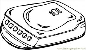 Cd Player Coloring Page