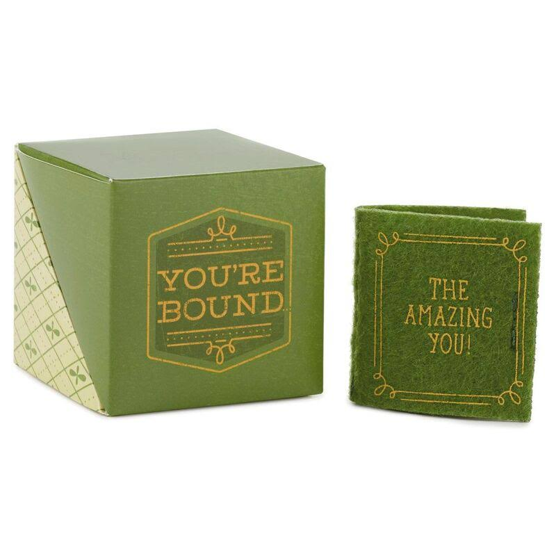 Hallmark Mini Bound for Greatness Care Cube with Book Token