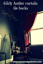 Antler Curtain Tie Backs by Tada S Kooky Kitchen Girly Antler Curtain Tie Backs