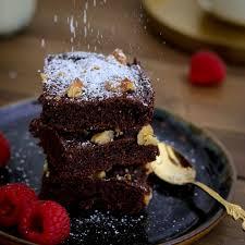 gesunde brownies mit apfelmark