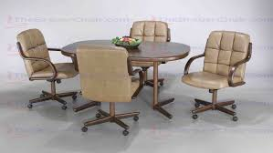 Chromcraft Chair Cushion Replacements by Furniture 5 Piece Dining Set T141 356 Table With C117 856 Caster