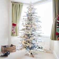 Ebay Christmas Trees 6ft by 6ft Snowy Alaskan Fir Led Pre Lit Artificial Christmas Tree By