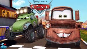 100 Cars Vs Trucks Disney Tow Mater Vs Lightning McQueen RS500 Racer Monster