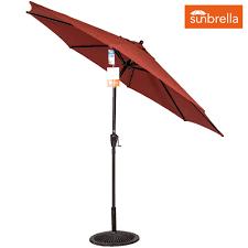 9 Ft Patio Market Umbrella by Ft Sunbrella Fabric Patio Garden Outdoor Market Umbrella Push