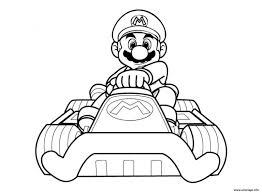 Coloriage Mario Kart Wii Avec Sa Voiture JeColoriecom