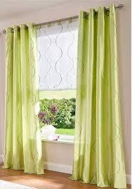 2 st gardine vorhang 140 x 245 grün bestickt seiden optik
