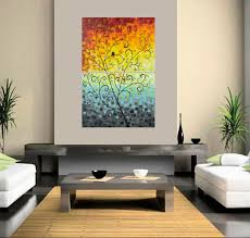Dawn By QIQIGallery 24 X 36 Original Modern Abstract Landscape Wall Painting Office Decor Wishing