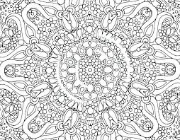 Teenager Coloring Pages Free Flowers Abstract For Teenagers Difficult In A Vase Printable Mandala
