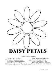 Daisy Girl Scout Coloring Pages Free
