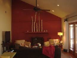 Looking For A New Living Room Features Consider Red Wall Paint Walls