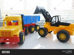 Toy Wheel Loader Toy Dump Truck Image & Photo | Bigstock