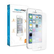 TechPro iPhone 5 5S Premium Tempered Glass Screen Protector