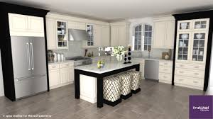 White Cabinet By Kraftmaid Reviews With Stools And Wooden Floor For Kitchen Decoration Ideas