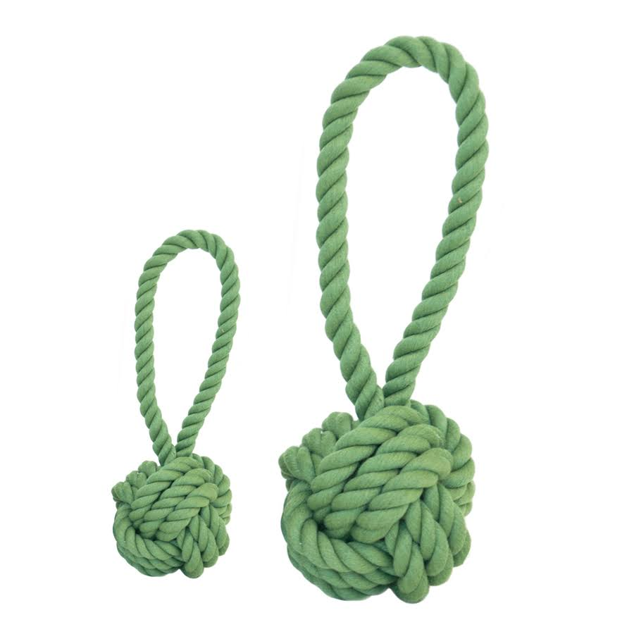 Harry Barker Cotton Rope Tug and Toss Dog Toy - Medium - Green