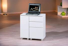 bureau informatique design extensible laqué blanc lally bureau