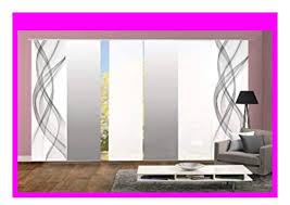 best seller home fashion 96675 6er set schiebegardinen