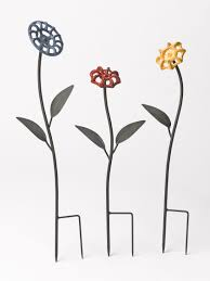 Decorative Hose Bib Extender by Faucet Handle Flowers Metal Garden Art Gardener U0027s Supply