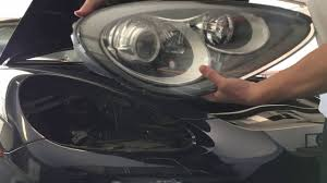 2013 porsche cayenne headlight removal install process how to