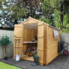 8x6 Wood Storage Shed by 8x6 Apex Shiplap Wooden Shed Departments Diy At B U0026q
