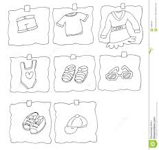 Baby Clothes Coloring Pages 2
