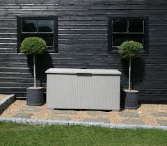 Keter Glenwood 390 Litre Deck Box by Outside Storage Bins Uk Keter Brightwood Plastic Garden Storage