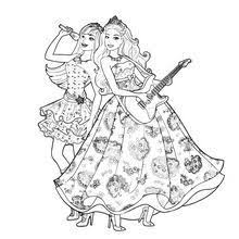 Princess Tori And Keira Popstar Colouring Pages
