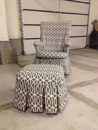 Chair And Ottoman Covers by How To Cover A Wooden Glider Rocker To Turn It Into A Comfy Chair