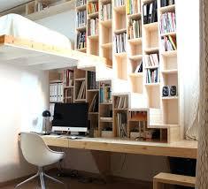 bureau bibliothèque intégré intérieur de la maison bibliotheque bureau integre geeks de la