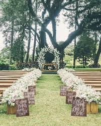 Rustic Wooden Wedding Aisle Signs Himisspuff