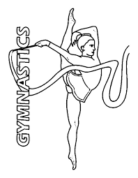 Gymnastics Coloring Pages Rhythmic Ribbon