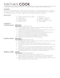 Sample Resume Retail Cashier Samples Examples For