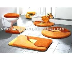 Orange Bath Rug Set Size Coffee Bath Mat Set Orange