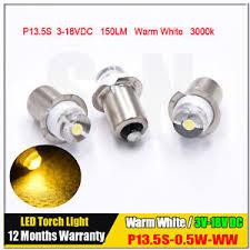 3x p13 5s pr2 warm white 0 5w maglite led bulb 3v 6v 18v magnum
